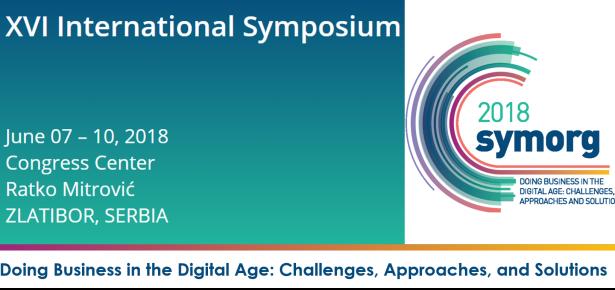 XVI Међународни симпозијум SymOrg 2018